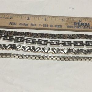Silver bracelets #913